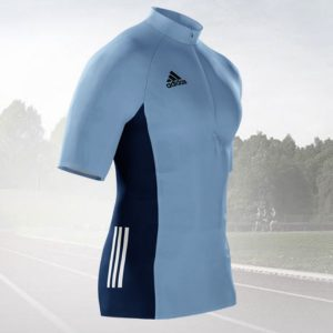 Adidas Mi Team Quarter Zip Running Tee Warm Up Mens