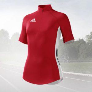 Adidas Mi Team Quarter Zip Running Tee Warm Up
